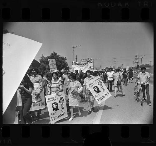 Chicano Moratorium Committee antiwar demonstrators