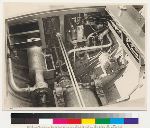 Henschel boat engine assembly, installed view