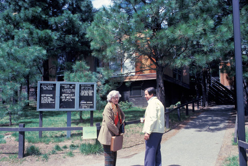 Kay Black (from Modesto) and Dean Chavers at the California Indian Education Association Meeting--Feather River--1977