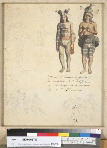 [War dance costumes of the inhabitants of California]