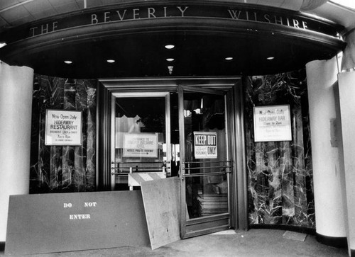 Renovation of Beverly Wilshire Hotel