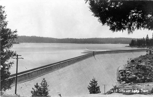 Shaver Lake Dam Fresno County California Calisphere