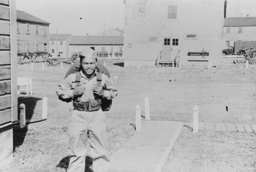 Dadong Ramil of Oceano at Camp Cook (presently Vandenberg Air Force Base), Lompoc : 1948