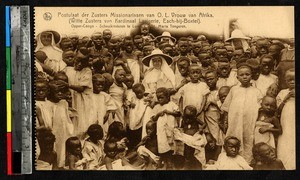 Women and children with missionary sisters, Lubumbashi, Congo, ca.1920-1940