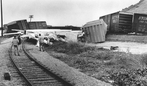 Train derailed, City of Industry
