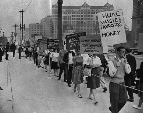 2 the huac targets hollywood (digital history id 2963) they were perfect targets for corporate twice during this period huac traveled to hollywood to investigate communist infiltration.