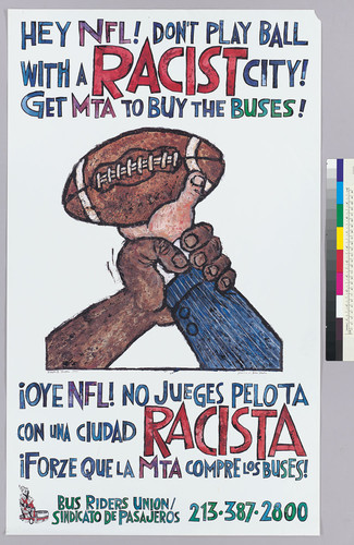 Hey NFL! don't play ball with a racist city = !Oye NFL! no jueges pelota con una ciudad racista