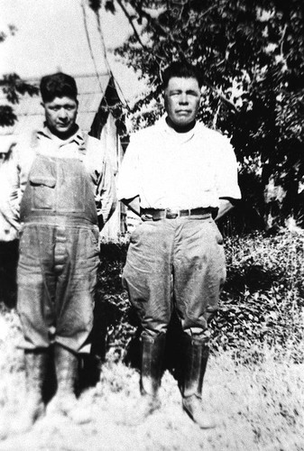 Herb Young (right) and unidentified man on the left