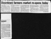 Downtown farmers market re-opens today