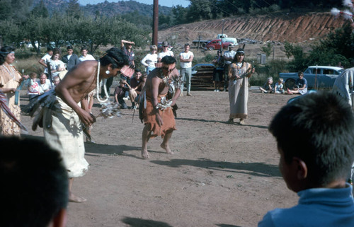 Dancers performing in the Acorn Dance at the Tuolumne Rancheria