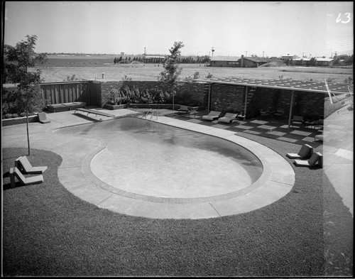Stone, David, residence for Joseph E. Howland. Swimming pool