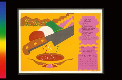 Calendario 1976.Calisphere Salsa Cruda From Calendario De Comida 1976