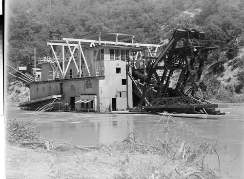 Calisphere: Gold Dredge on Trinity River