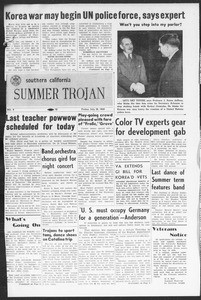 Summer Trojan, Vol. 5, No. 9, July 28, 1950