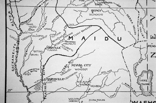 Map of Maidu territory