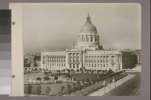 [City Hall and Civic Center Plaza, from northeast.]