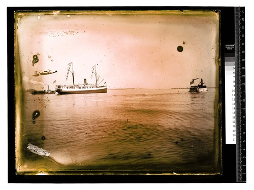 Scene on the Bay, nearEureka [The steamer Pomona of the Pacific Steamship Co. - a coastwise passenger and freight line]