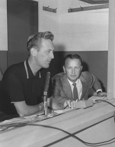 Vin Scully and Jerry Doggett