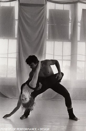 Rhonda Martin with San Francisco Moving Company dancer, circa 1970s