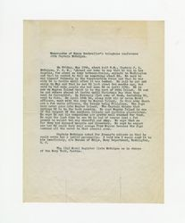 Memorandum of Henry Dockweiler's telephone conference with Captain J. L. McGuigan, circa 1942