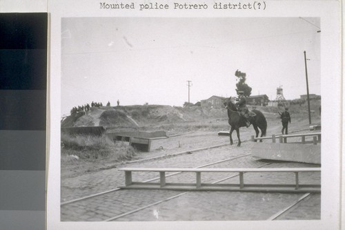 Mounted police, Portrero district [?]