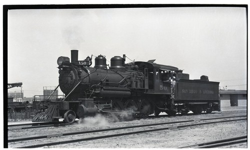 SD&A locomotive 50 at 10th Street