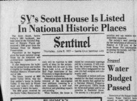 SV's Scott House Is Listed In National Historic Places