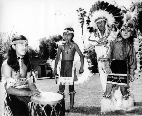 Chief Little Bear and several Fernandeno tribe members
