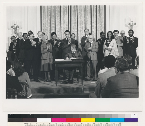 President Carter signing the Humphrey-Hawkins Bill