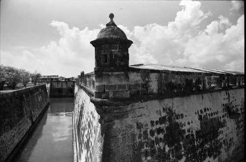 Moat around castle, Cartagena, 1975