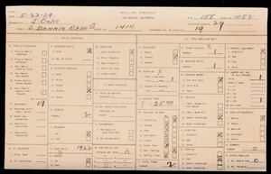 WPA household census for 1414 S BONNIE BRAE, Los Angeles