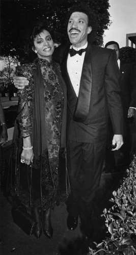 Lionel Richie and Brenda Harvey at Academy Awards