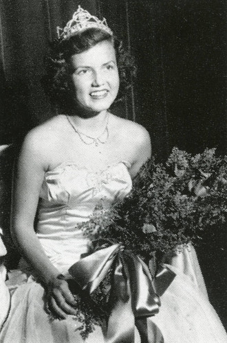 Homecoming Queen Betty Johnson, 1949