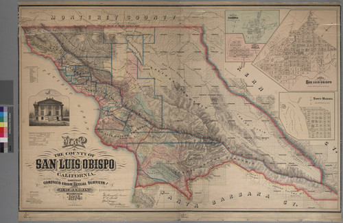 Calisphere Map Of The County Of San Luis Obispo California