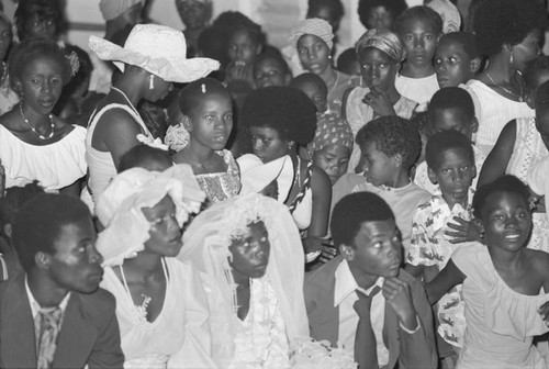 Multiple weddings ceremony, San Basilio del Palenque, ca. 1978