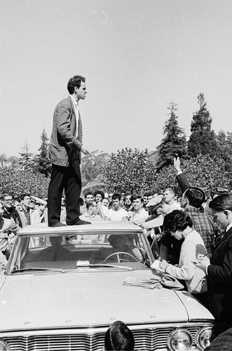 Mario Savio speaking from the top of the police car