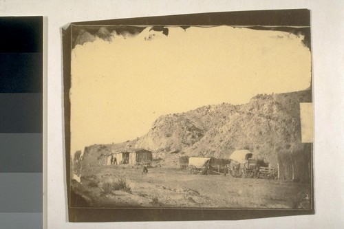 Point Rock, in 1863 the last habitation on the route