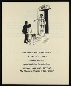 Annual Holy Convocation, COGIC (89th: 1996), institute guide