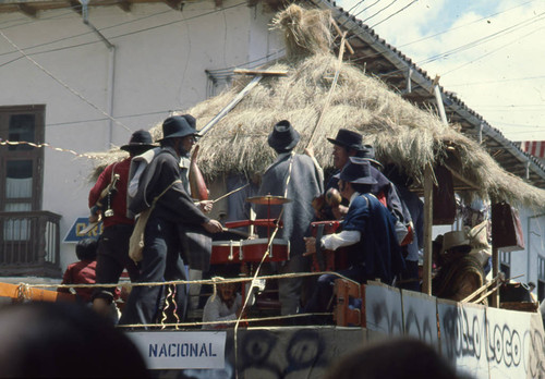 Float at the Blacks and Whites Carnival, Nariño, Colombia, 1979