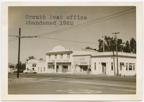 Calisphere: Orcutt Post office abandoned 1962