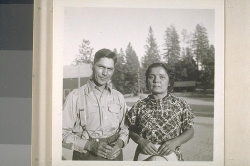 Fred and Mary Muhly at North Fork Union School; 1937; 9 prints, 9 negatives