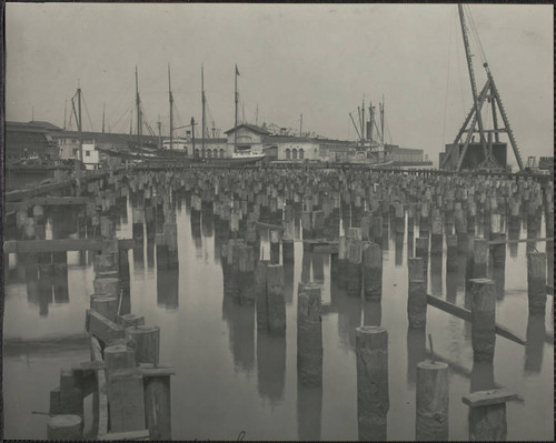 Calisphere: Pier pilings at the waterfront, South Beach Park, San