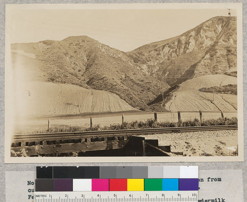 No. 3 - California, Ventura County. View of erosion from cultivation slopes along Southern Pacific Railway. February 23, 1932. W. C. Lowdermilk