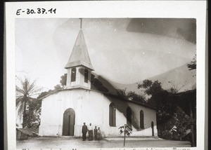 Church in Mangamba, its tower completed