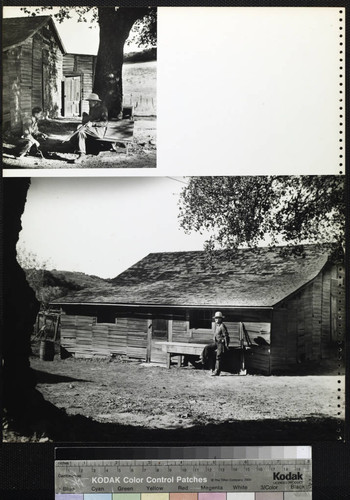 Pico Ranch. Men posed and Exterior