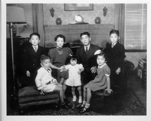 Walter Tsukamoto and family at home