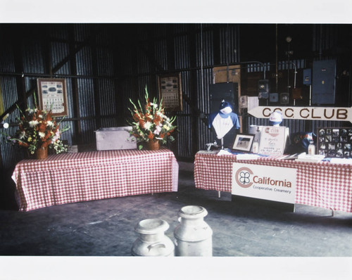 C.C.C. Club sales table at a California Cooperative Creamery event, 1983
