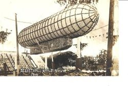 1913 Gravenstein Apple Show display of a dirigible made of apples