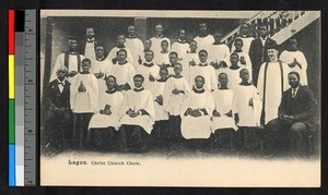 Clergy and young men at Christ Church, Lagos, Nigeria, ca.1920-1940