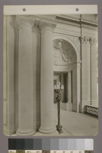 [Gallery, with columns and light standard.]